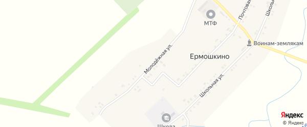 Молодежная улица на карте деревни Ермошкино с номерами домов