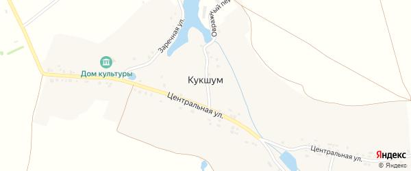 Заречная улица на карте села Кукшума с номерами домов