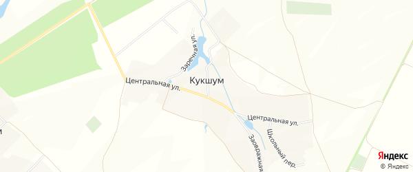 Карта села Кукшума в Чувашии с улицами и номерами домов