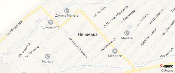Улица Расула Гамзатова на карте села Нечаевки с номерами домов