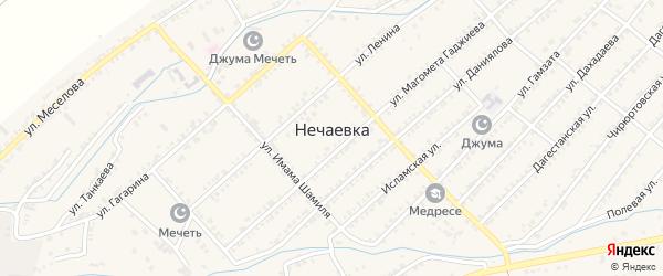 Улица Саида Афанди на карте села Нечаевки с номерами домов