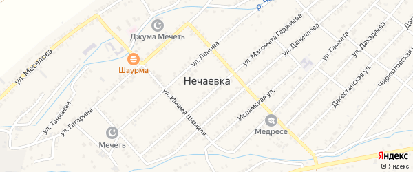Улица И.Газимагомедова на карте села Нечаевки с номерами домов