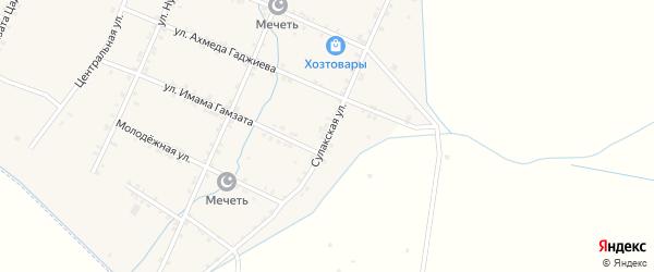 Сулакская улица на карте села Акнады с номерами домов