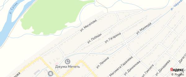 Улица Победы на карте села Нечаевки с номерами домов