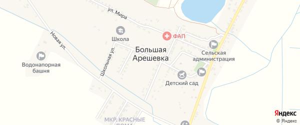 Затеречный переулок на карте села Большей Задоевки с номерами домов