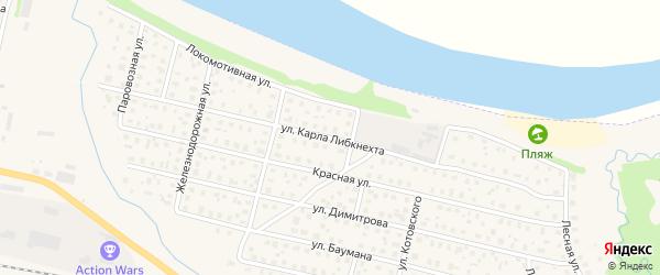 Улица К.Либкнехта на карте Вычегодского поселка с номерами домов