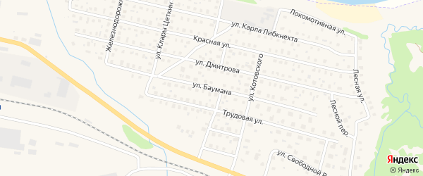Улица Баумана на карте Вычегодского поселка с номерами домов