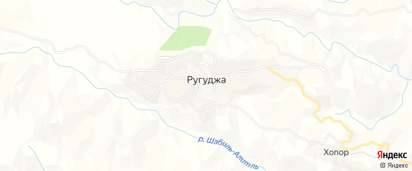 Карта села Ругуджи в Дагестане с улицами и номерами домов