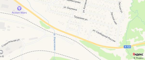 Линейная улица на карте Вычегодского поселка с номерами домов