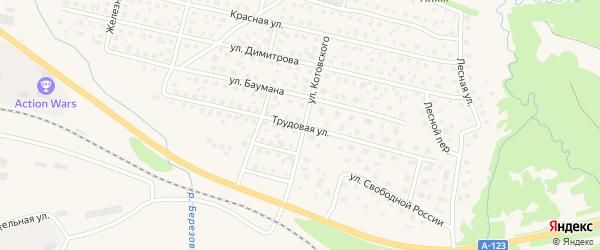 Трудовая улица на карте Вычегодского поселка с номерами домов