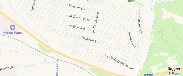 Улица Котовского на карте Вычегодского поселка с номерами домов