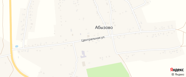 Центральная улица на карте деревни Анаткас-Абызово с номерами домов