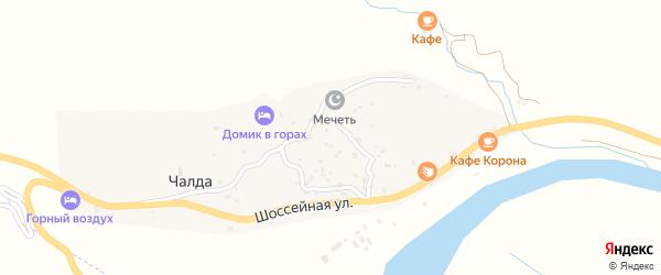 Улица Имама Шамиля на карте села Чалды с номерами домов