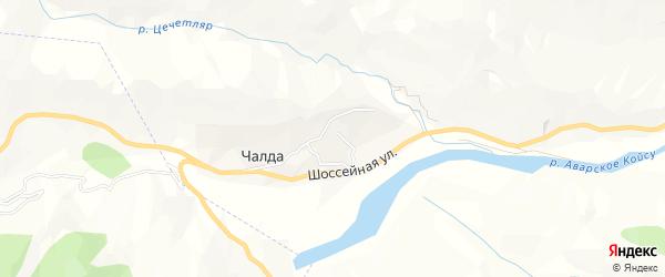 Карта села Чалды в Дагестане с улицами и номерами домов