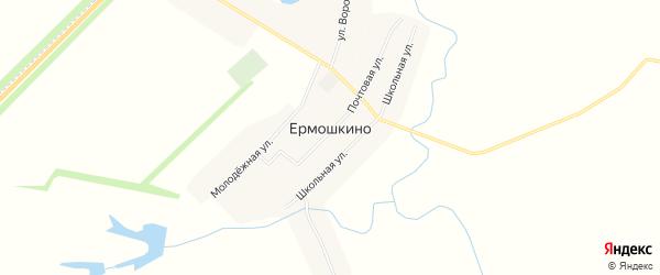 Карта деревни Ермошкино в Чувашии с улицами и номерами домов