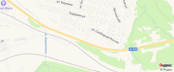 Цветочный переулок на карте Вычегодского поселка с номерами домов