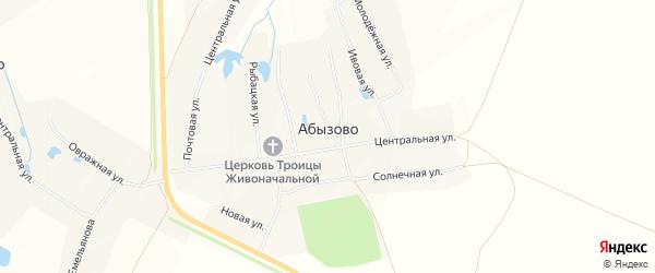 Карта села Абызово в Чувашии с улицами и номерами домов