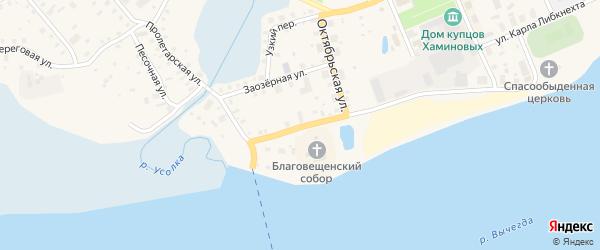 Музейный переулок на карте Сольвычегодска с номерами домов