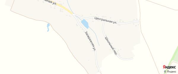 Заовражная улица на карте села Кукшума с номерами домов