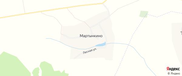 Карта деревни Мартынкино в Чувашии с улицами и номерами домов