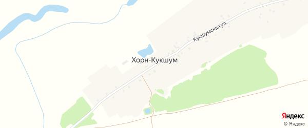 Кукшумская улица на карте деревни Хорна-Кукшума с номерами домов
