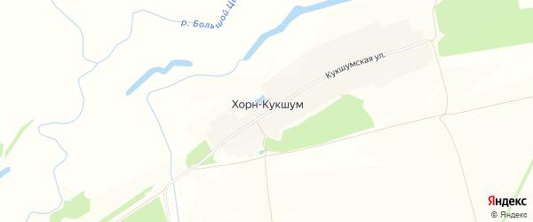 Карта деревни Хорна-Кукшума в Чувашии с улицами и номерами домов