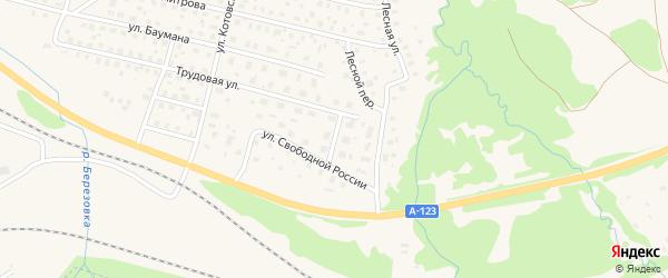 Российский переулок на карте Вычегодского поселка с номерами домов