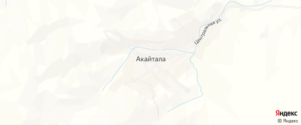 Карта села Акайталы в Дагестане с улицами и номерами домов