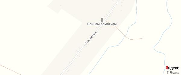 Садовая улица на карте села Альменево с номерами домов