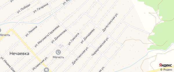Улица Дахадаева на карте села Нечаевки с номерами домов