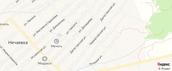 Дагестанская улица на карте села Нечаевки с номерами домов