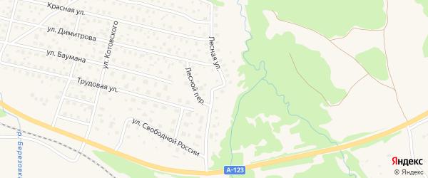 Лесная улица на карте Вычегодского поселка с номерами домов