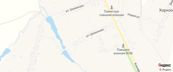 Улица Шомиково на карте деревни Шомиково с номерами домов