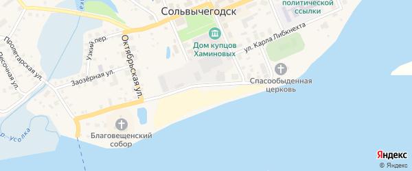 Набережная улица на карте Задовой деревни с номерами домов