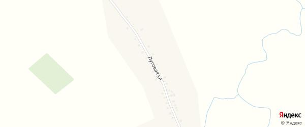Луговая улица на карте села Альменево с номерами домов