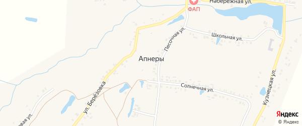 Широкая улица на карте деревни Апнер с номерами домов