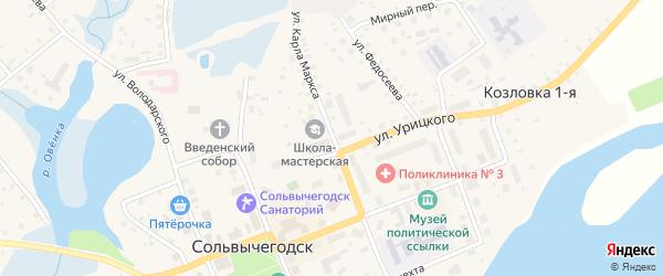 Улица Карла Маркса на карте Сольвычегодска с номерами домов
