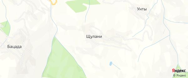 Карта села Щулани в Дагестане с улицами и номерами домов