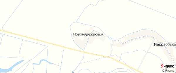 Карта хутора Новонадеждовки в Дагестане с улицами и номерами домов