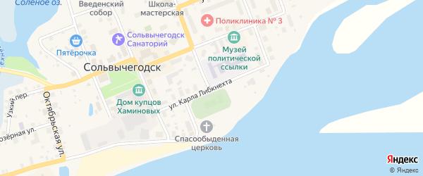 Улица Карла Либкнехта на карте Сольвычегодска с номерами домов