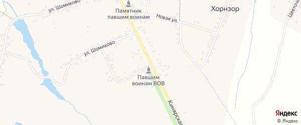 Кинярская улица на карте деревни Шомиково с номерами домов