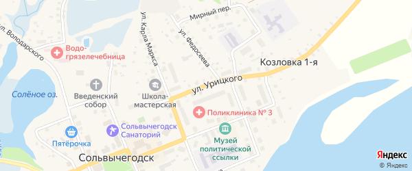 Улица Урицкого на карте Сольвычегодска с номерами домов