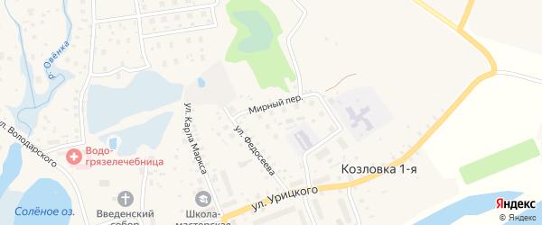 ГСК гаражная зона 1 на карте Мирного с номерами домов