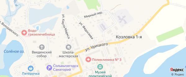Улица Федосеева на карте Сольвычегодска с номерами домов