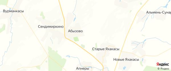 Карта Ершипосинского сельского поселения республики Чувашия с районами, улицами и номерами домов