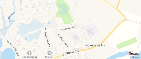 ГСК гаражная зона 2 на карте Мирного с номерами домов