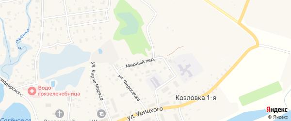 Мирный переулок на карте Сольвычегодска с номерами домов