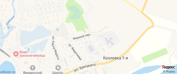 ГСК гаражная зона 3 на карте Мирного с номерами домов