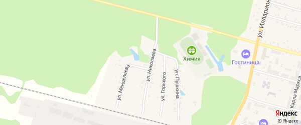 Улица Николаева на карте поселка Вурнары с номерами домов