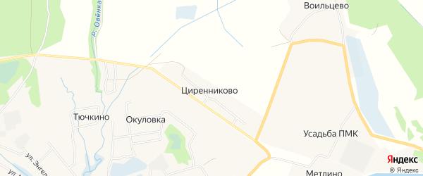 Карта деревни Циренниково города Сольвычегодска в Архангельской области с улицами и номерами домов